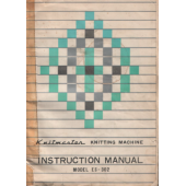 Knitmaster ES302 Knitting Machine Instruction Manual