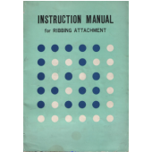 Knitmaster 302 Ribber Machine Instruction Manual