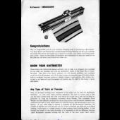 Knitmaster 4500 Knitting Machine Instruction Manual