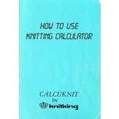Brother Calcuknit User Guide