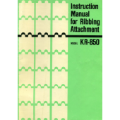 Brother KR850 Ribber User Guide