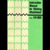 Brother KR850 Ribber User Guide