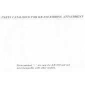 Brother KR850 Parts Manual