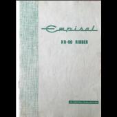 Empisal KR90 Ribber User Guide