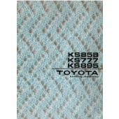 Toyota KS858 KS777 KS895 Knitting Machine User Manual