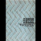 Toyota KS858 KS777 KS895 Knitting Machine User Manual