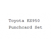 Toyota KS950 Punchcard Set