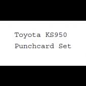 Toyota KS950 Punchcard Set