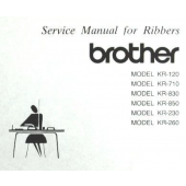 Brother KR120-KR710-KR830-KR850-KR230-KR260 Service Manual
