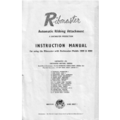 Ribmaster Ribber Machine Instruction Manual