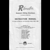 Ribmaster Ribber Machine Instruction Manual