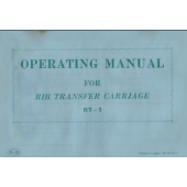 RT-1 Ribber Transfer Carriage User Manual