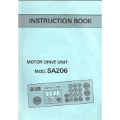 MOD SA206 Motor Drive Instruction Manual
