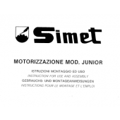 Simet Junior Motor Use And Assembly Manual