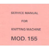 SK155 Knitting Machine Service Manual