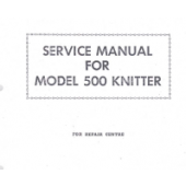 SK500 Knitting Machine Service Manual