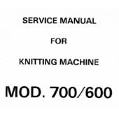 SK600-SK700 Knitting Machine Service Manual