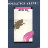 Knitmaster SK600 - SK700 Operation Knitting Machine Instruction Manual