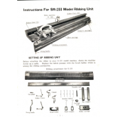 SR-200 Ribber Machine Instruction Manual