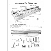 Silver Reed SR10 Ribber User Guide Knitting Manual