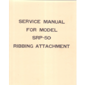 SRP50 Knitting Machine Ribber Service Manual