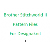 Brother Stitchworld II Files for Designaknit