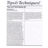 Studio Tips and Techinques Issue 08 5MM End Needle Selection