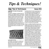Studio Tips and Techniques Issue 24 Hand Knit Stitches for Machines