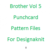 Brother Vol 5 Punchcards Files for Designaknit