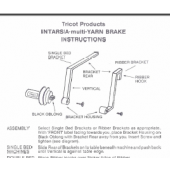 Tricot Intarsia Yarn Brake