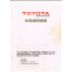 Toyota KS858 Knitting Machine User Manual