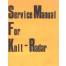 Toyota KS950 Knit Radar Service Manual